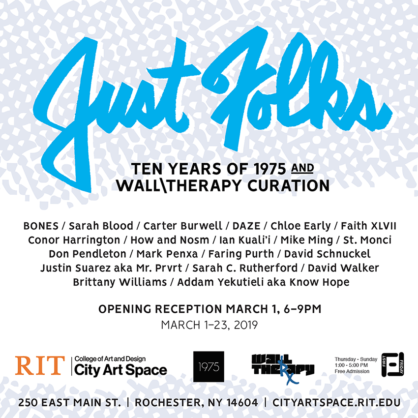 JUST FOLKS - Ten Years of 1975 and WALL THERAPY curation